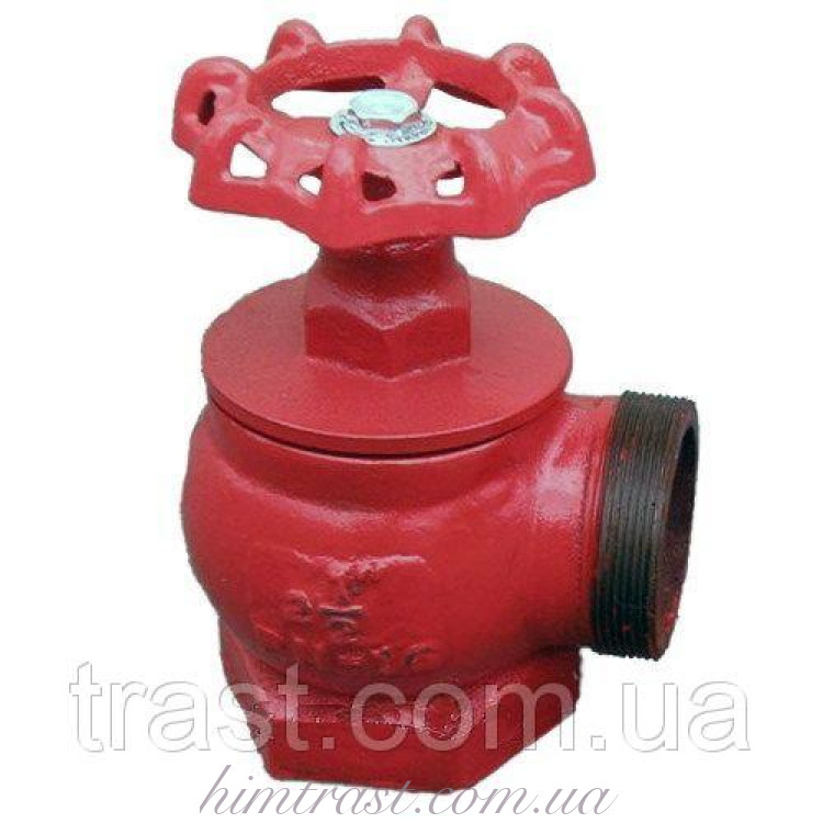 Кран (вентиль) пожарный чугунный (Н/Вн), D-50 угловой