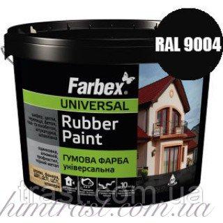 Краска резиновая для крыш черная FARBEX RAL 9004 12 кг