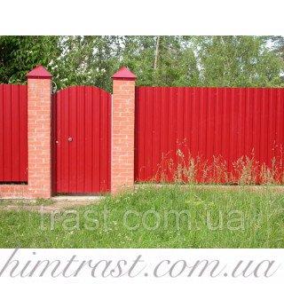 Краска резиновая для крыш и заборов из профнастила красно-коричневая, 12 кг