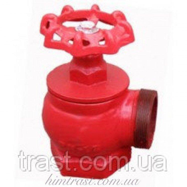 Кран (вентиль) пожарный чугунный (Н/Вн), D-66 угловой