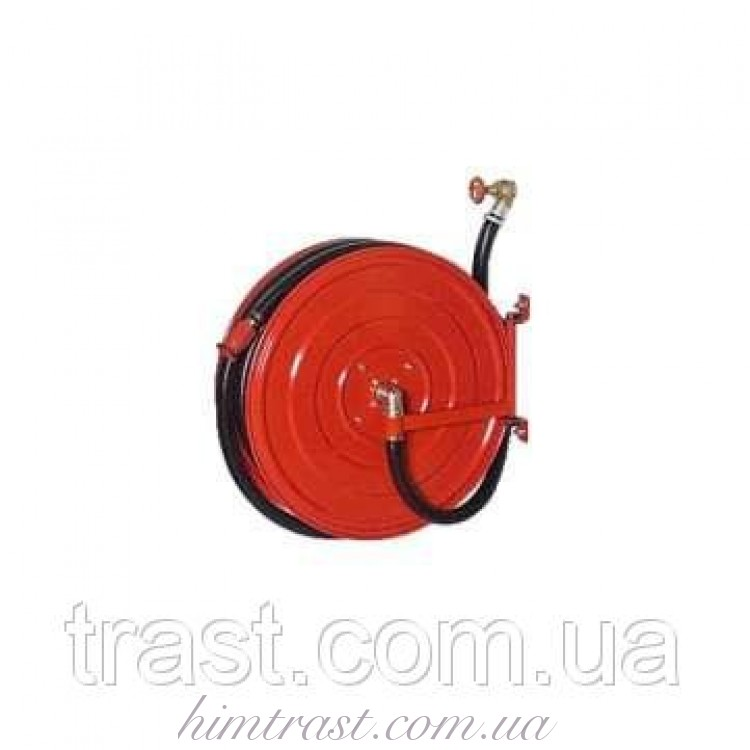 Кран комплект пожарный с полужестким рукавом D25мм/20м/1,2