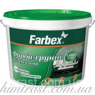 Краска для цоколя и фасада Farbex Вишневая 12 кг