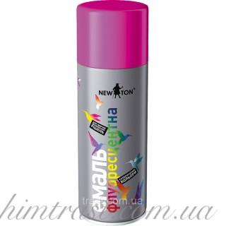 Эмаль флуоресцентная New Ton RAL: 0096 розовая 400 мл