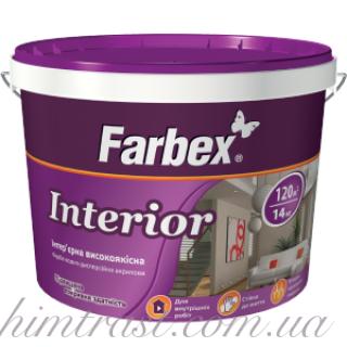 """Краска интерьерная высококачественная """"Interior"""" ТМ """"Farbex"""""""