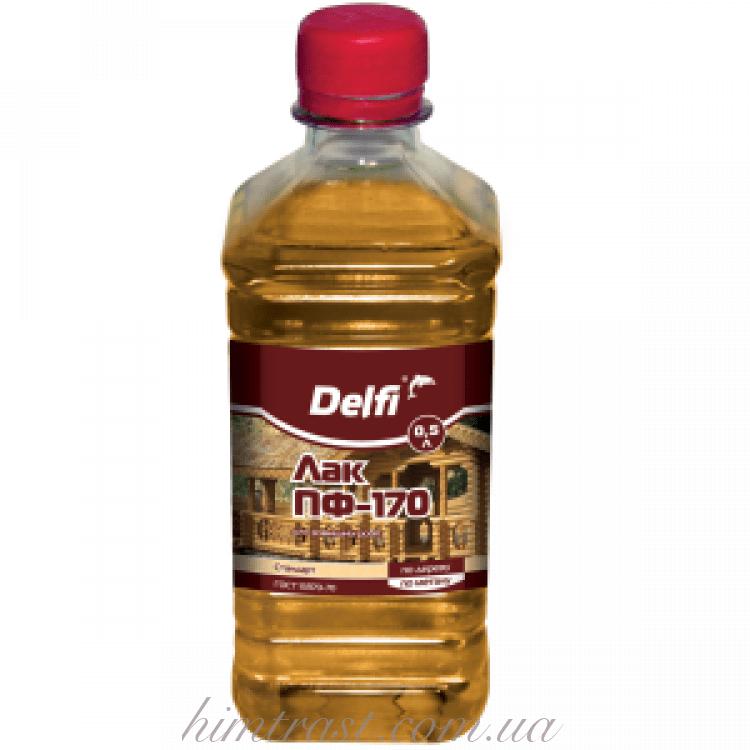 """Лак для наружных работ ПФ-170 ТМ """"Delfi"""""""