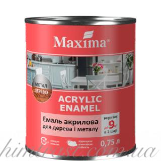"""Эмаль акриловая для дерева и металла ТМ """"Maximа"""""""