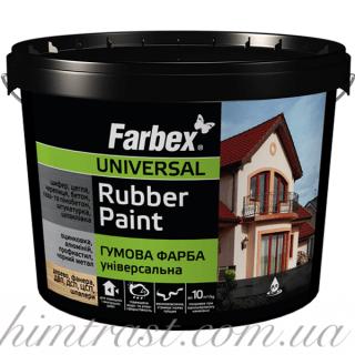 Краска резиновая универсальная Farbex красно-коричневая, 12 кг
