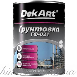 """Грунтовка ГФ-021 ТМ """"DekArt"""" серая, 0.9 кг"""