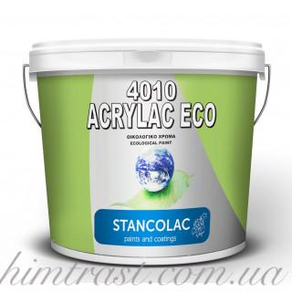 Акриловая краска Stancolac 4010 Eco для стен, потолков, кирпича, газобетона, бетона, дерева 0,75л