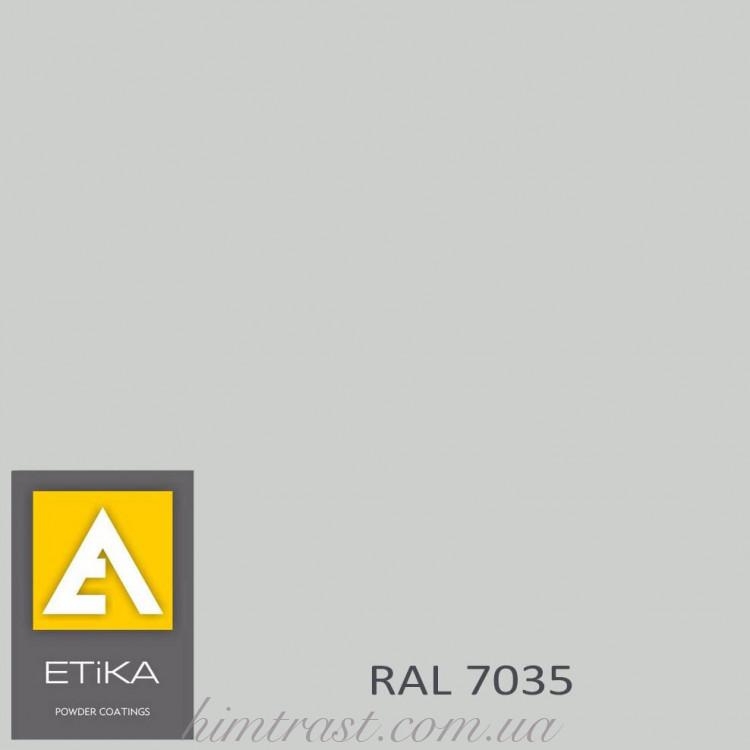 Краска порошковая полиэфирная Etika Tribo Светло-серая RAL 7035 шагрень<br />