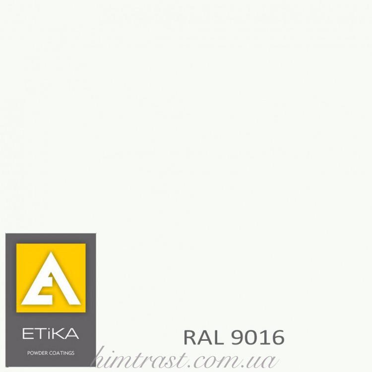 Краска порошковая полиэфирная Etika Tribo Транспортный белый RAL 9016 шагрень<br />