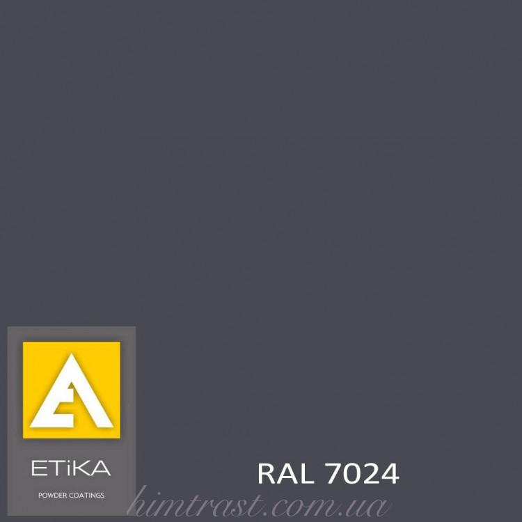 Краска порошковая полиэфирная Etika Tribo Графитово-серая RAL 7024 шагрень<br />