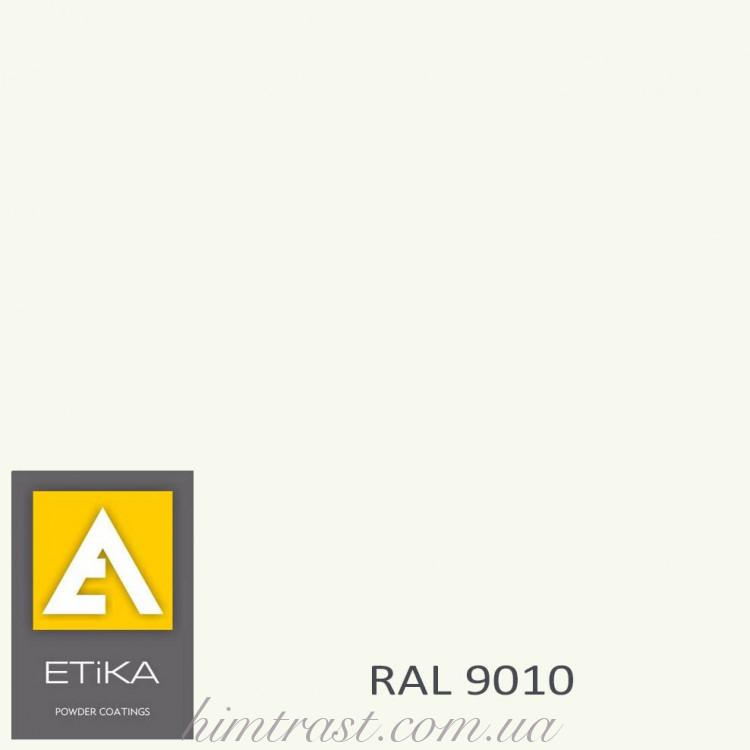 Краска порошковая полиэфирная Etika Tribo Белая RAL 9010 матовая<br />