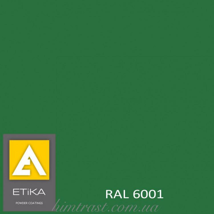 Краска порошковая полиэфирная Etika Tribo Изумрудно-зеленая RAL 6001 матовая<br />