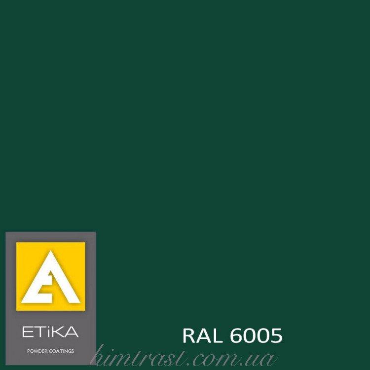 Краска порошковая полиэфирная Etika Elektro Зеленая RAL 6005 шагрень