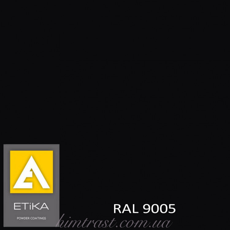 Краска порошковая полиэфирная Etika Elektro Черный янтарь RAL 9005 полуглянцевая<br />
