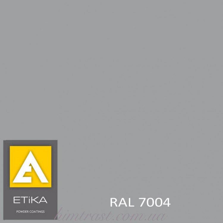 Краска порошковая полиэфирная Etika Elektro Сигнальная серая RAL 7004 шагрень<br />