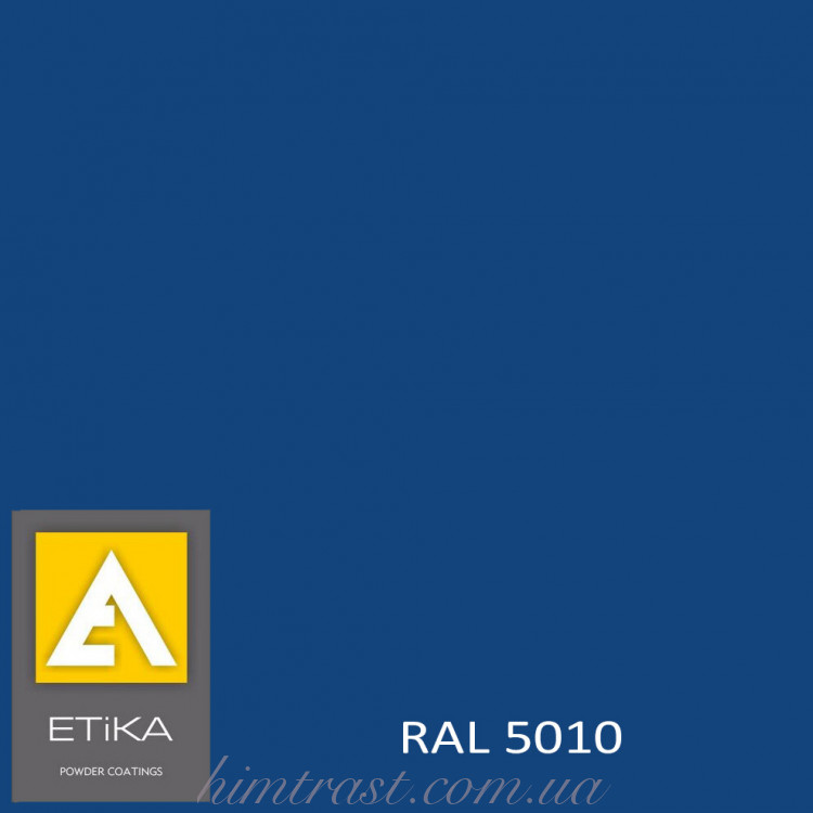 Краска порошковая полиэфирная Etika Elektro Синяя RAL 5010 глянцевая<br />