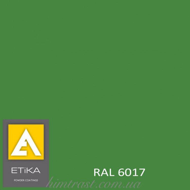 Краска порошковая полиэфирная Etika Tribo Зеленая RAL 6017 глянцевая<br />