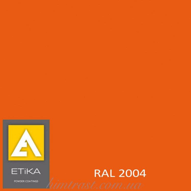 Краска порошковая полиэфирная Etika Tribo Оранжевая RAL 2004 глянцевая<br />