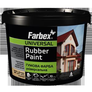 Хотим познакомить вас с новой универсальной резиновой краской торговой марки Farbex